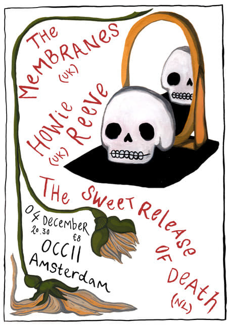 THE MEMBRANES (UK) + THE SWEET RELEASE OF DEATH + HOWIE REEVE (SC)
