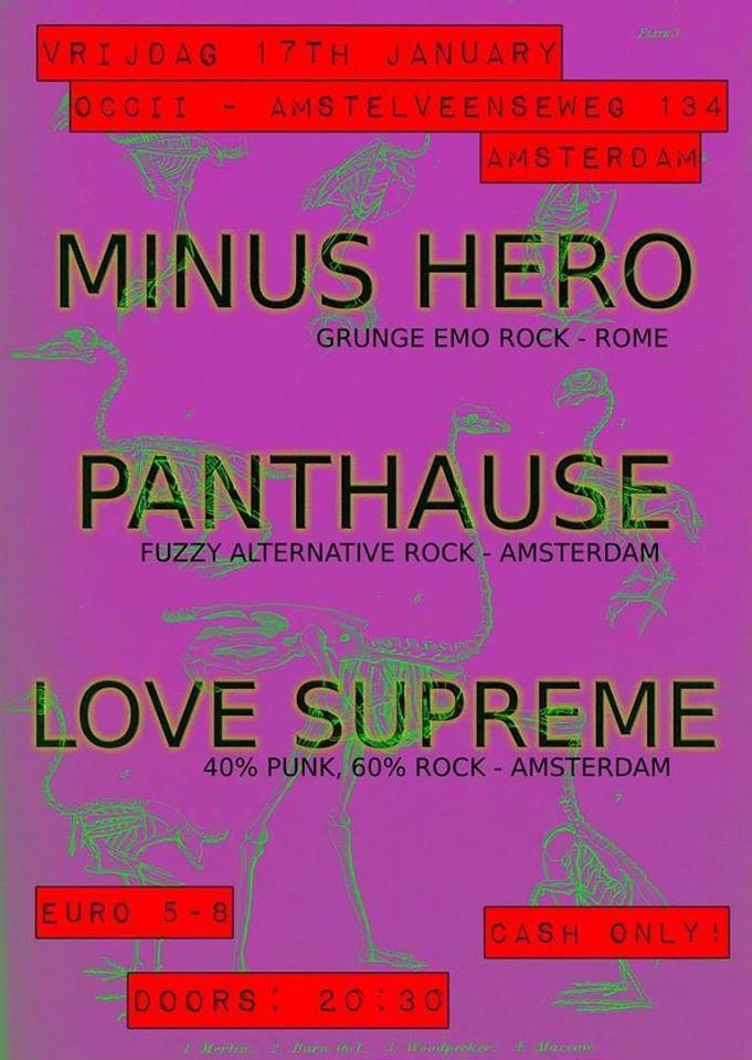 MINUS HERO (IT) + PANTHAUSE + LOVE SUPREME + DJ STEVE