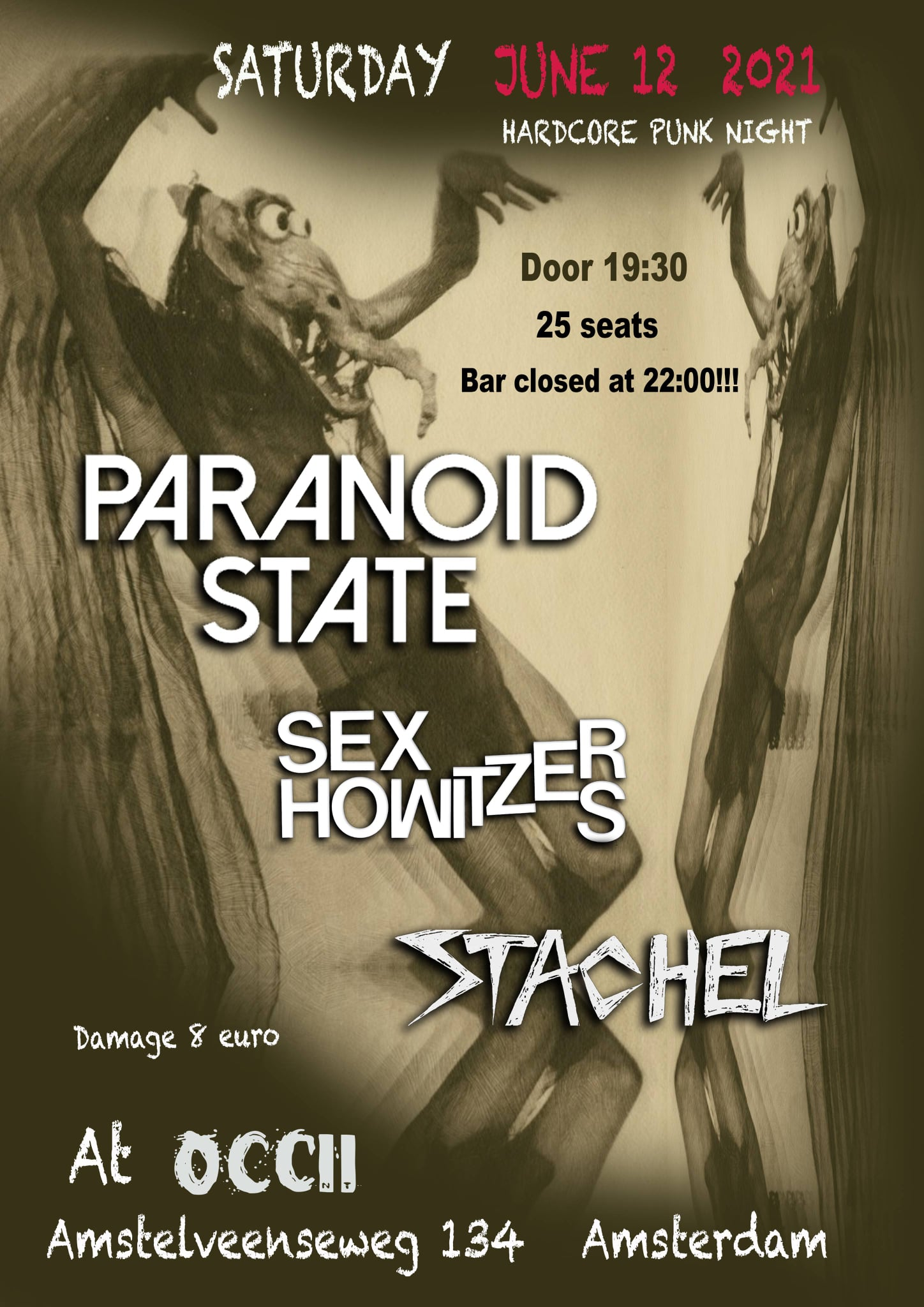 PARANOID STATE + SEX HOWITZERS + STACHEL