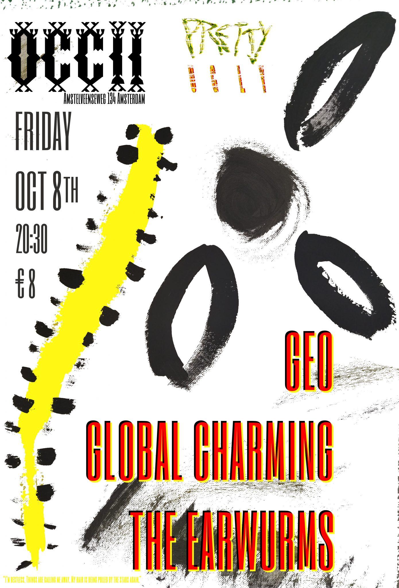 GEO + GLOBAL CHARMING + THE EARWURMS
