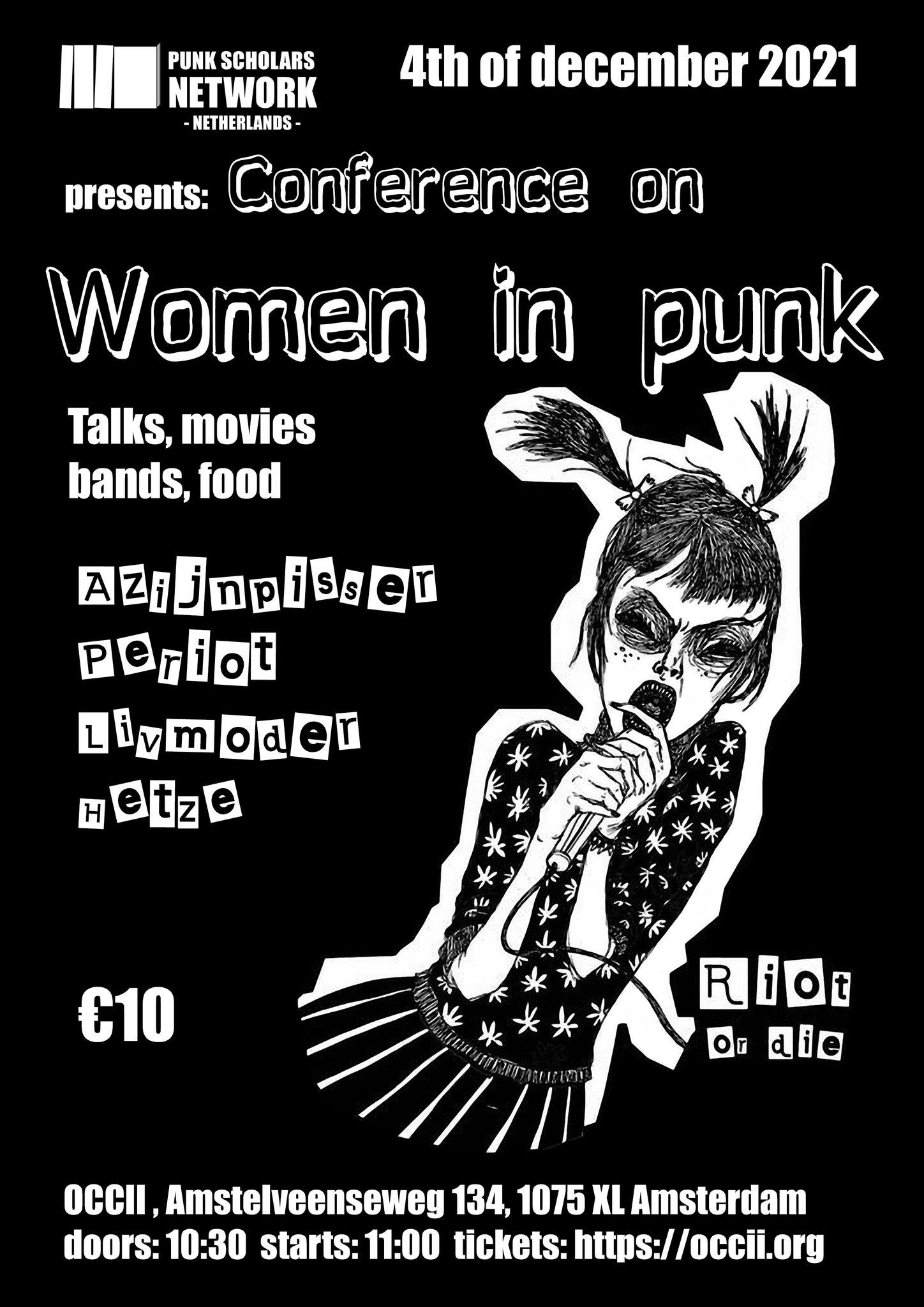 PSN-NL Conference on Women in Punk! w/ HETZE (BE) + AZIJNPISSER + PERIOT + LIVMODER